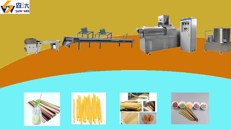 Edible straw/tube  making machine /processing line