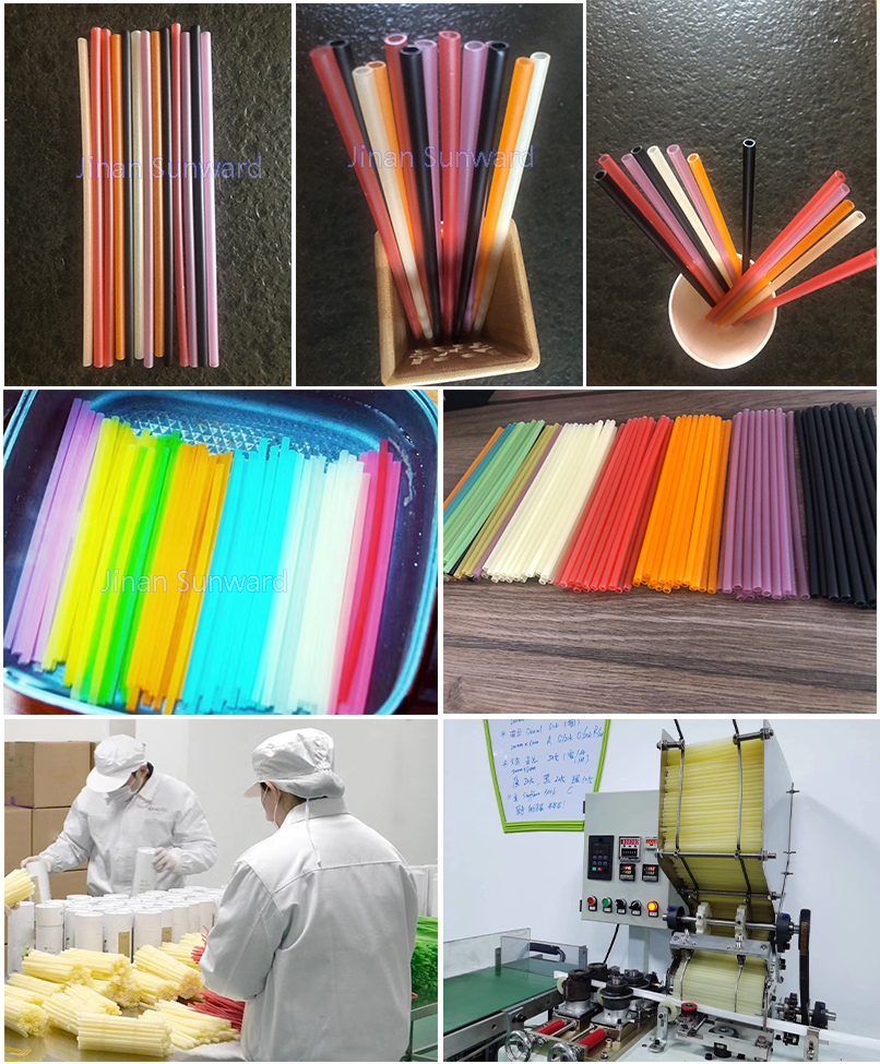 rice drinking straw production