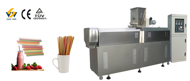 Eco-friendly degradable  rice drinking straw machine