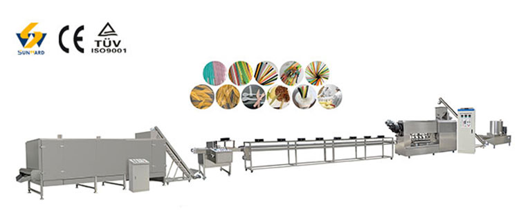 rice drinking straw production line