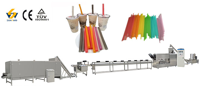Edibe drinking straw production line